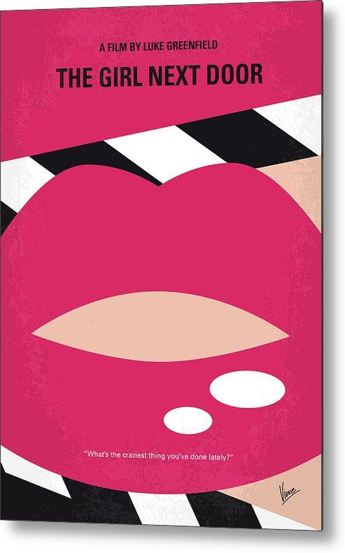 Girl Metal Print featuring the digital art No670 My The Girl Next Door Minimal Movie Poster by Chungkong Art