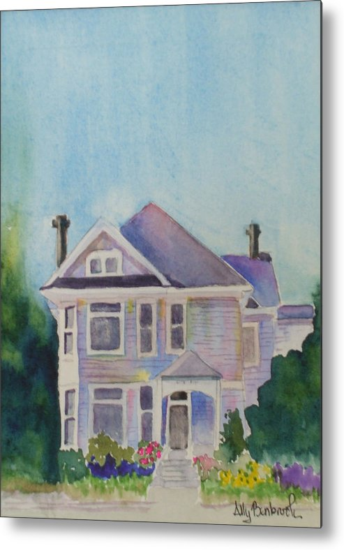 Victorian Metal Print featuring the painting Park Blvd Victorian by Ally Benbrook