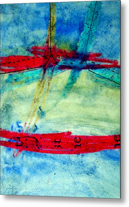 Abstract Metal Print featuring the mixed media Pattern by Kim Putney