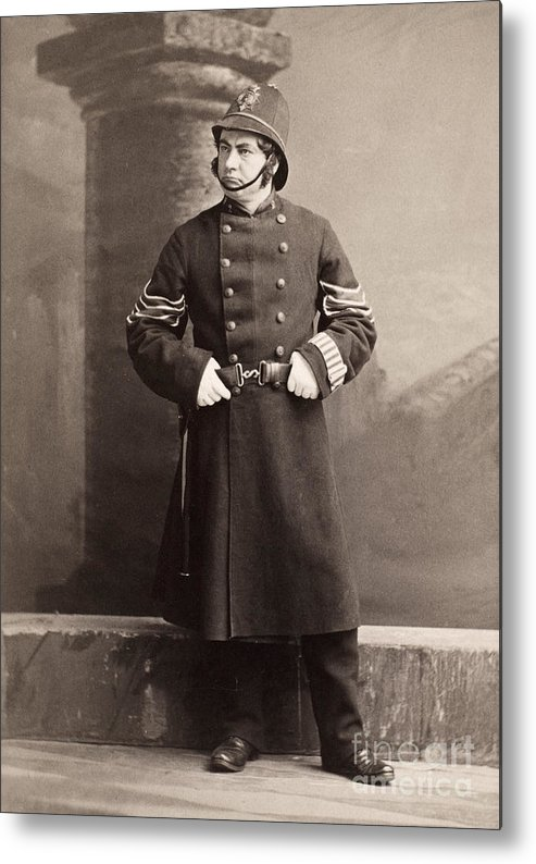 19th Century Metal Print featuring the photograph Police Officer by Granger