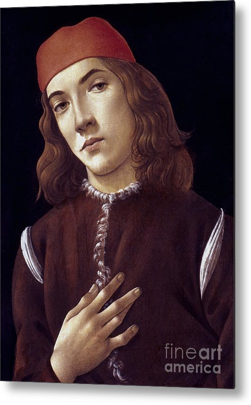 1480 Metal Print featuring the photograph Portrait Of A Youth by Granger