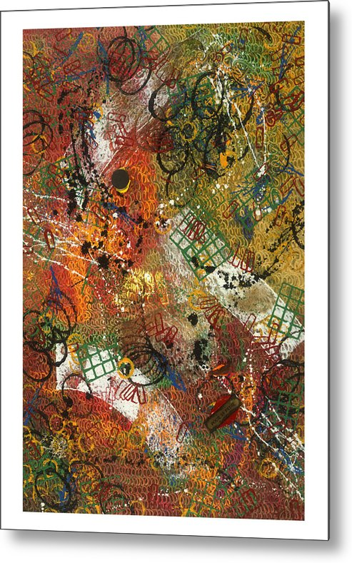 Abstract Metal Print featuring the painting Pour La Pluie by Dominique Boutaud