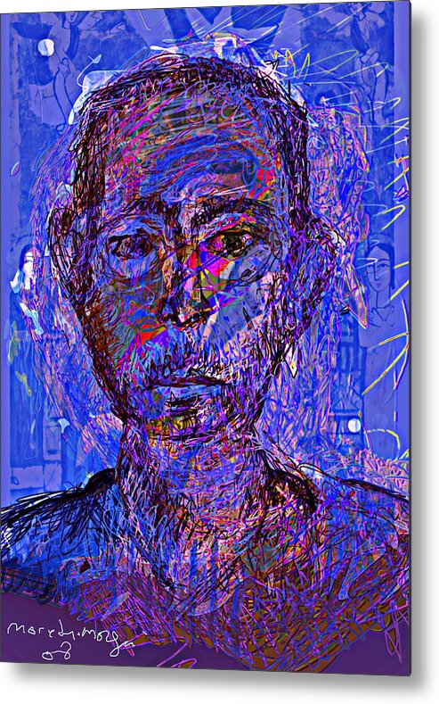 Self Portrait Metal Print featuring the painting Prophite by Noredin Morgan