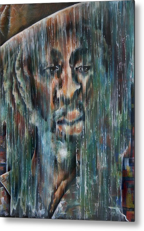 Reggae Metal Print featuring the painting Rain Falls For Me by Robert Nelson