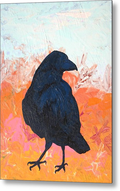 Raven Metal Print featuring the painting Raven IIi by Dodd Holsapple