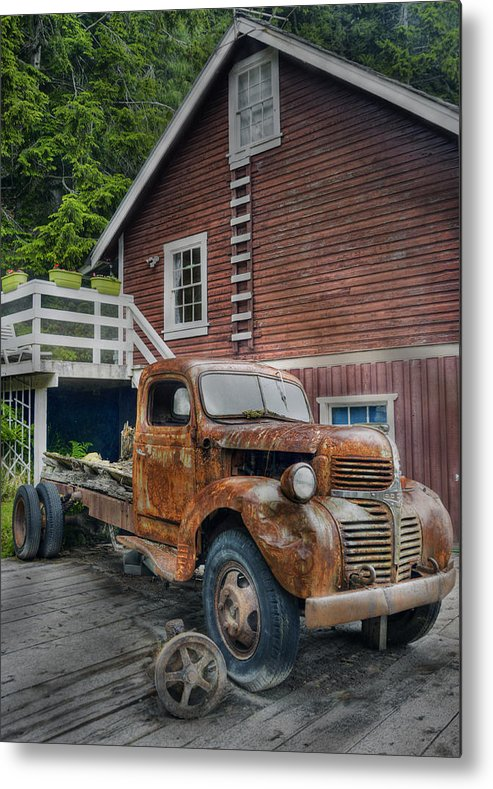 Hdr Metal Print featuring the photograph Retired by Doug Matthews
