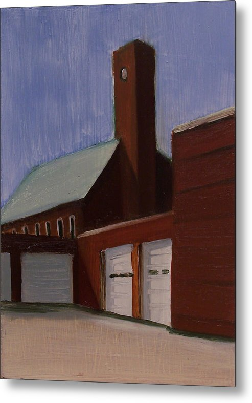 Suburbanscape Metal Print featuring the painting Ridgefield Park Dpw by Ron Erickson
