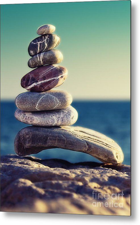 Arrangement Metal Print featuring the photograph Rock Energy by Stelios Kleanthous