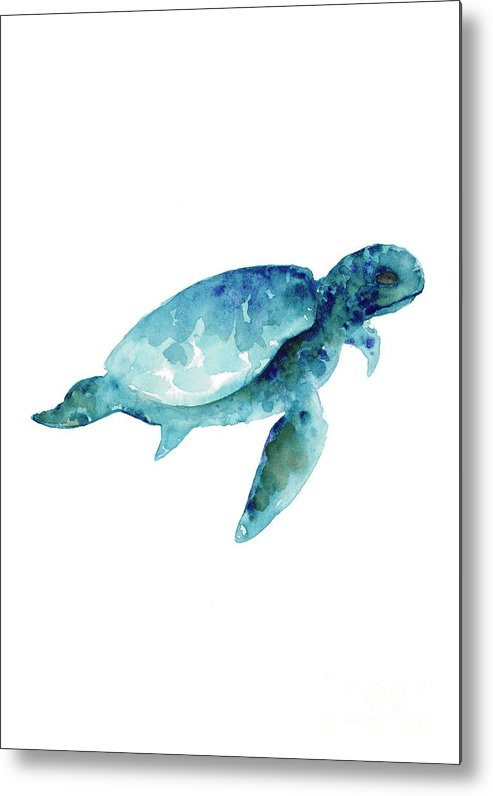 Sea Turtle Wall Art Print, Abstract Sea Animals Nursery Wall Art ...