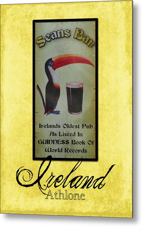 Irish Metal Print featuring the photograph Seans Bar Guinness Pub Sign Athlone Ireland by Teresa Mucha