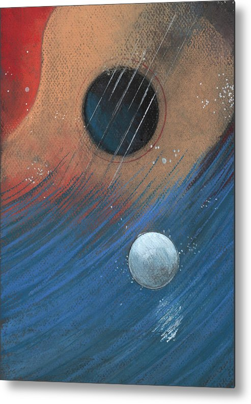 Guitar Metal Print featuring the drawing Sentiment by Rick Yost