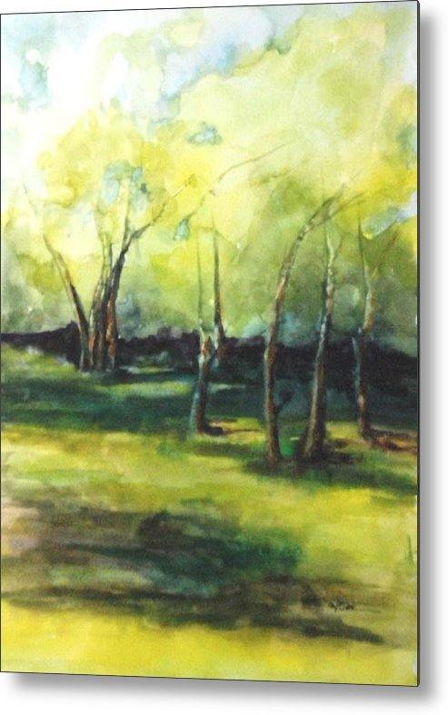 Trees Metal Print featuring the painting September At Mac O Cheek by Donna Pierce-Clark