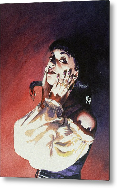 Women Metal Print featuring the painting Set by Ken Meyer