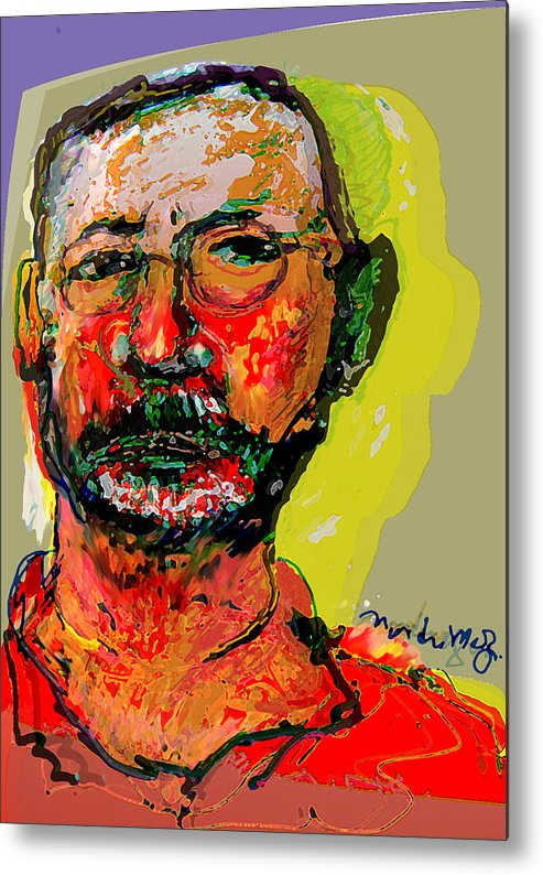 Self Portraits Metal Print featuring the painting Sp3808 by Noredin Morgan