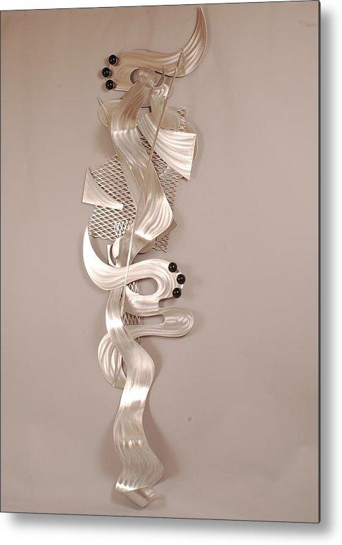 Wall Art Metal Print featuring the sculpture Spontaneous Encounter by Mac Worthington
