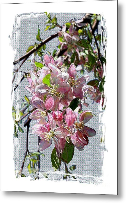 Spring Blossoms Metal Print featuring the digital art Spring Is Melting Away by Carol Groenen