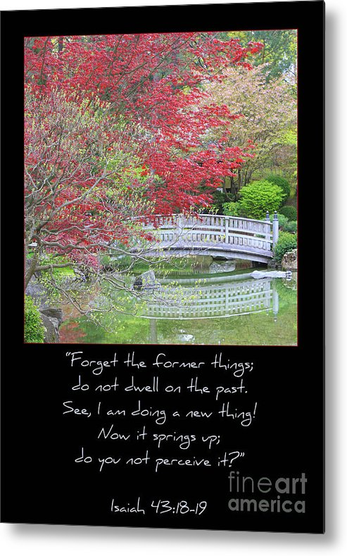 Isaiah 43: 18-19 Metal Print featuring the photograph Spring Revival by Carol Groenen