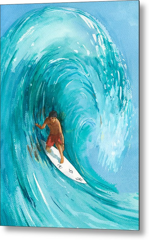 Big Wave Metal Print featuring the painting The Big One by Ray Cole