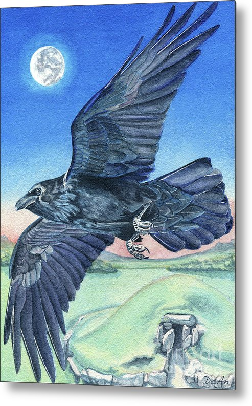 Raven Metal Print featuring the painting The Raven by Antony Galbraith