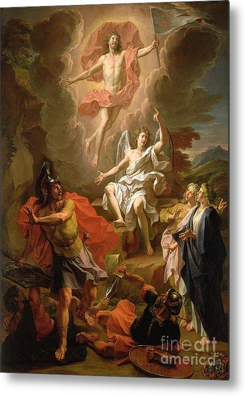 The Resurrection Of Christ Metal Print featuring the painting The Resurrection Of Christ by Noel Coypel