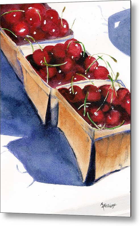 Pie Metal Print featuring the painting There's A Pie Awaiting by Marsha Elliott