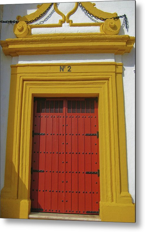 Door Metal Print featuring the photograph Traditions Of Sevilla by JAMART Photography