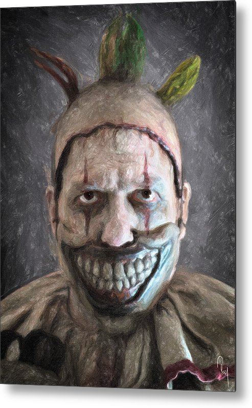 Twisty The Clown Metal Print featuring the painting Twisty The Clown by Zapista Zapista