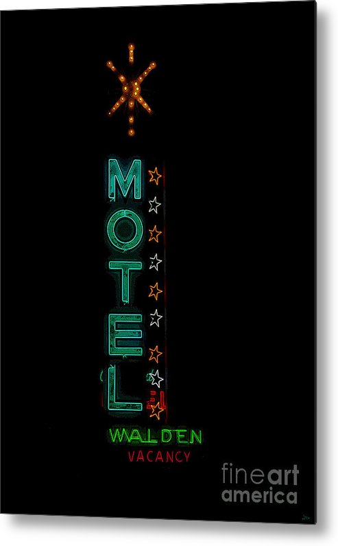 Art Metal Print featuring the painting Walden Motel Las Vegas by David Lee Thompson