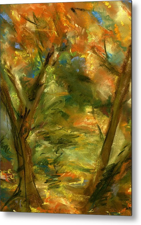Colorful Metal Print featuring the painting Walk In The Park by Marilyn Barton