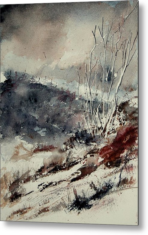 Snow Metal Print featuring the print Watercolor 446 by Pol Ledent