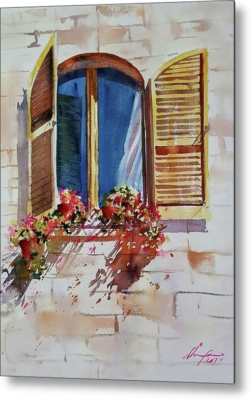 Window Metal Print featuring the painting Window by Shaima Adnan