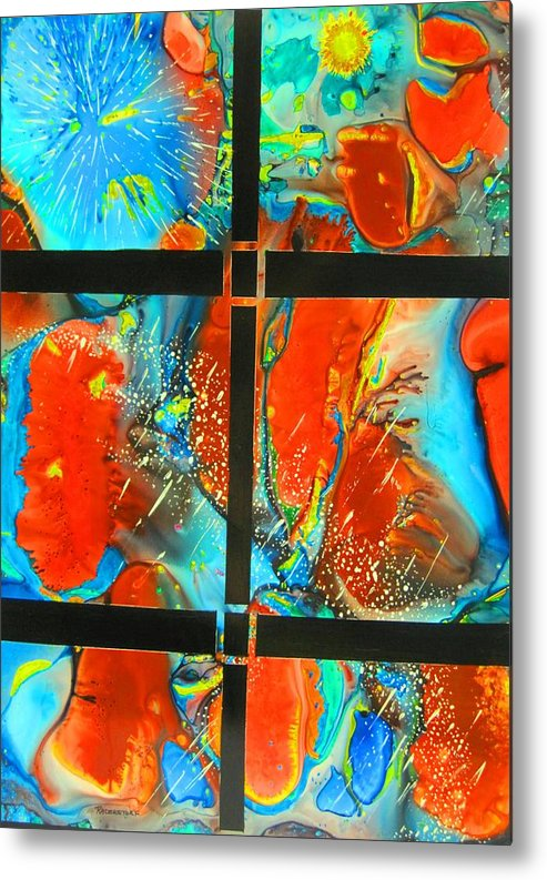 Space Metal Print featuring the painting Windows To The Universe by David Raderstorf