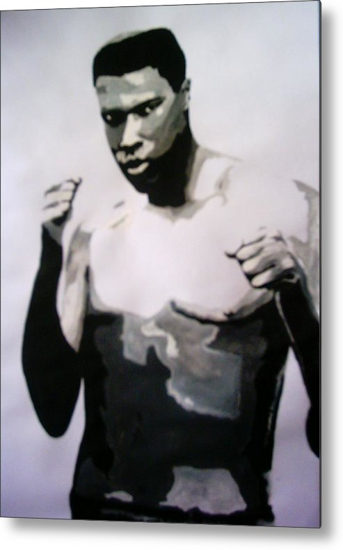 Ali Metal Print featuring the painting Young Ali by Colin O neill