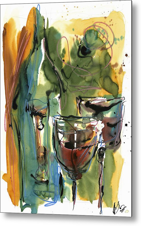 Wine Metal Print featuring the painting Zin-findel by Robert Joyner