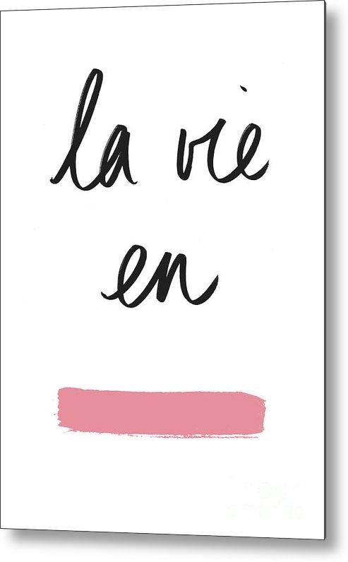 Rose Metal Print featuring the digital art La Vie En Rose by Florent Bodart