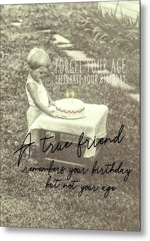 Birthday Metal Print featuring the photograph Make A Birthday Wish Quote by JAMART Photography