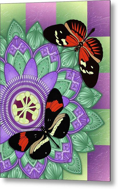 Studio Dalio - Passion Flower Mandala With Butterflies