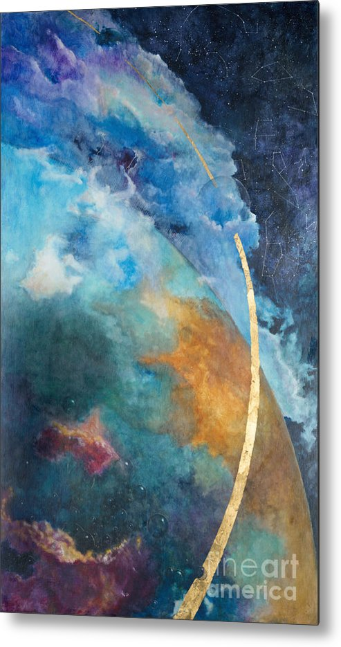 Sky Metal Print featuring the painting Constellations by Cheryl Myrbo
