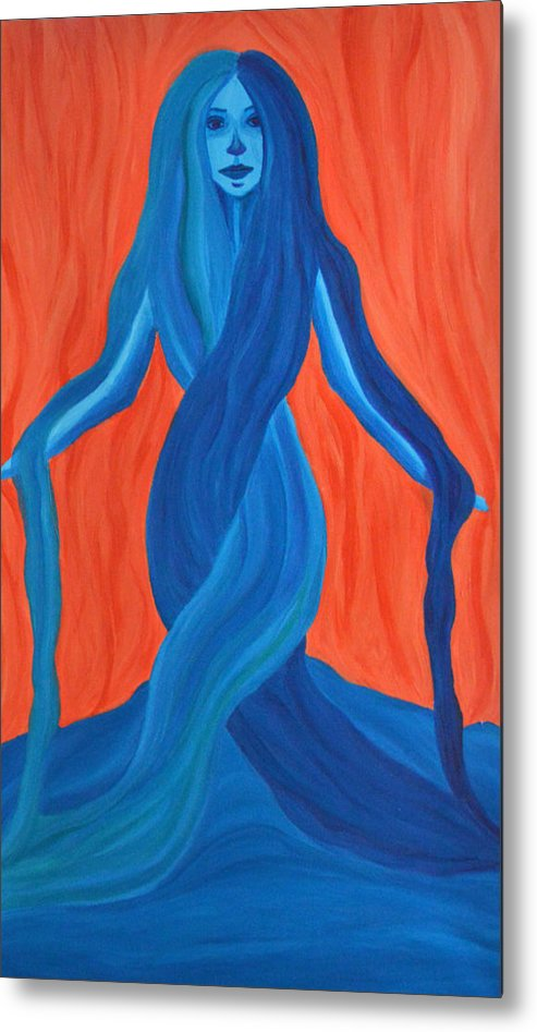 Mary Metal Print featuring the painting Mary - Mother Of Earth - Mother Of Light by Daina White