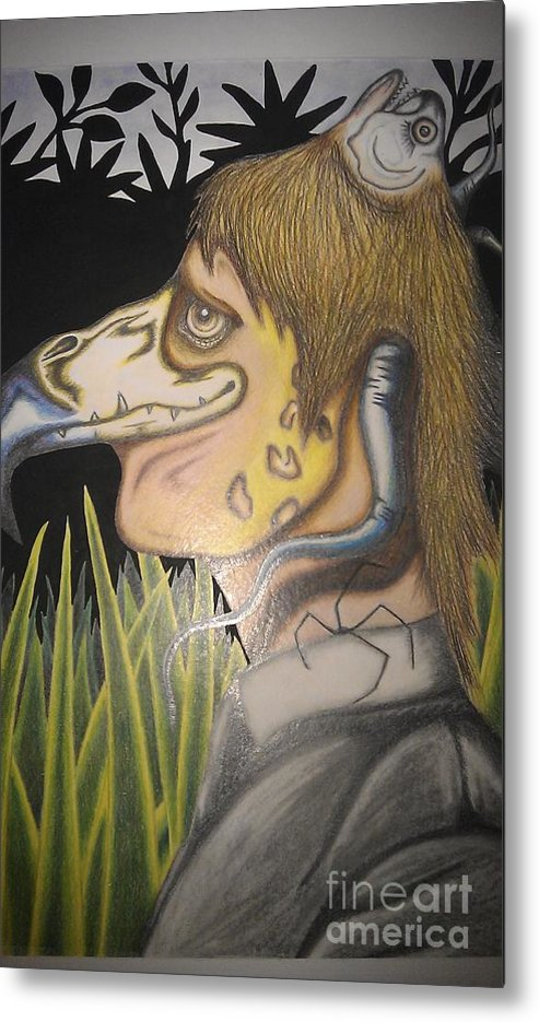 Transformed Metal Print featuring the mixed media Transformed by Jack Andrews