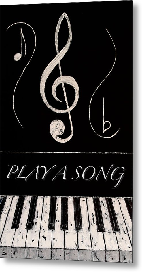 Abstract Metal Print featuring the mixed media Play A Song by Wayne Cantrell