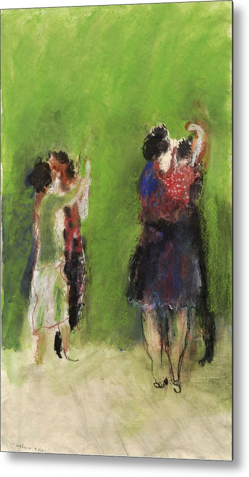 Dancers Metal Print featuring the painting Dancers by Bill Collins