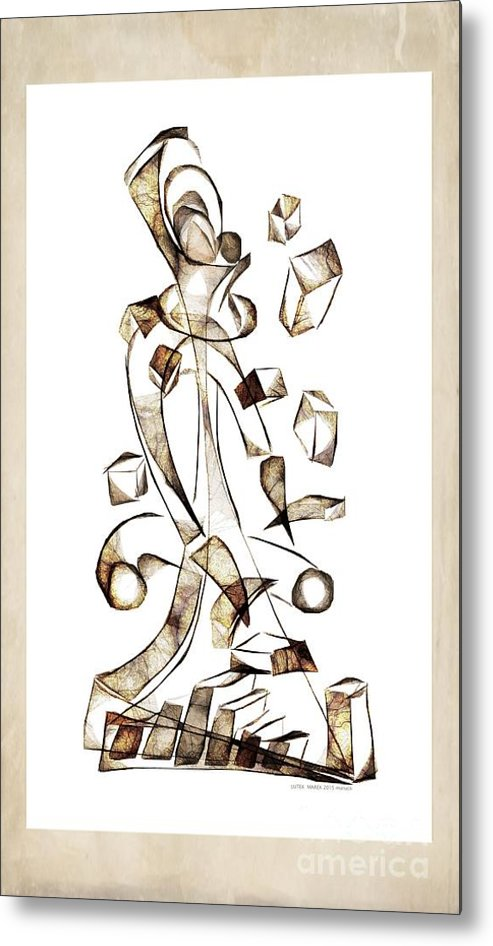 Abstraction Metal Print featuring the digital art Abstraction 2257 by Marek Lutek