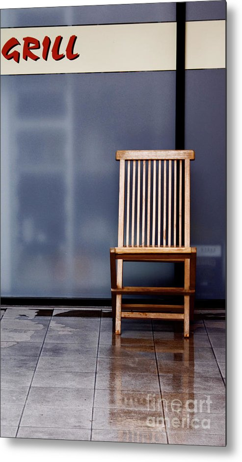 Chair Metal Print featuring the photograph Reflexion by Vadim Grabbe