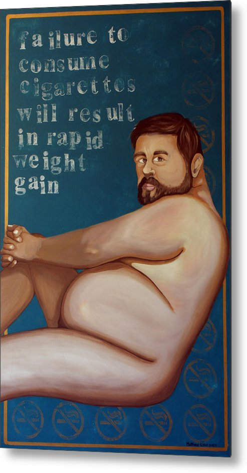 Oil Metal Print featuring the painting You'll Get Fat by Matthew Lake
