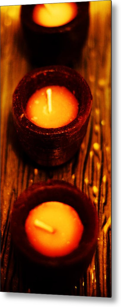 Candles Metal Print featuring the photograph 3 Of A Kind by Lounge Mode Production Art