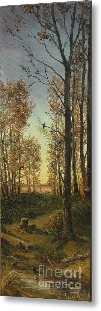 Autumn Metal Print featuring the painting Autumn by Sorin Apostolescu