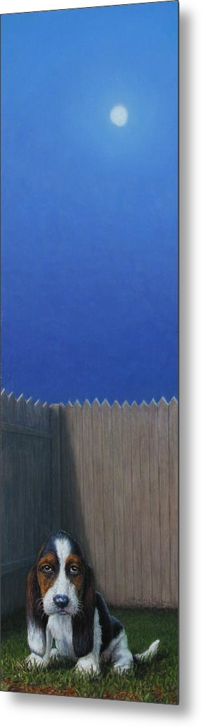 Puppy Metal Print featuring the painting Full Moon by James W Johnson