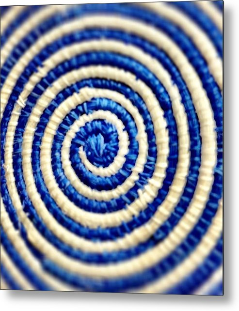 Abstract Metal Print featuring the photograph Abstract Blue Swirl by Michele Monk