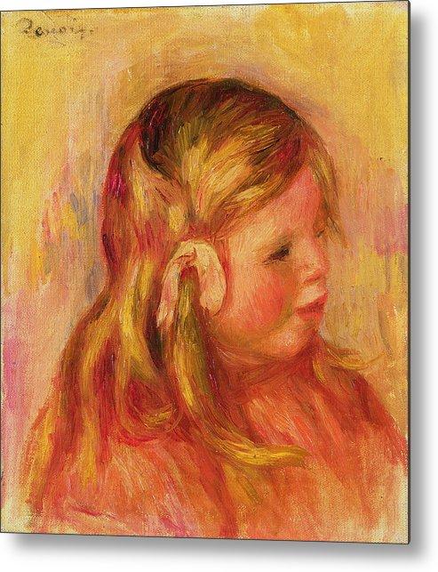 Portrait Metal Print featuring the painting Claude Renoir by Pierre Auguste Renoir